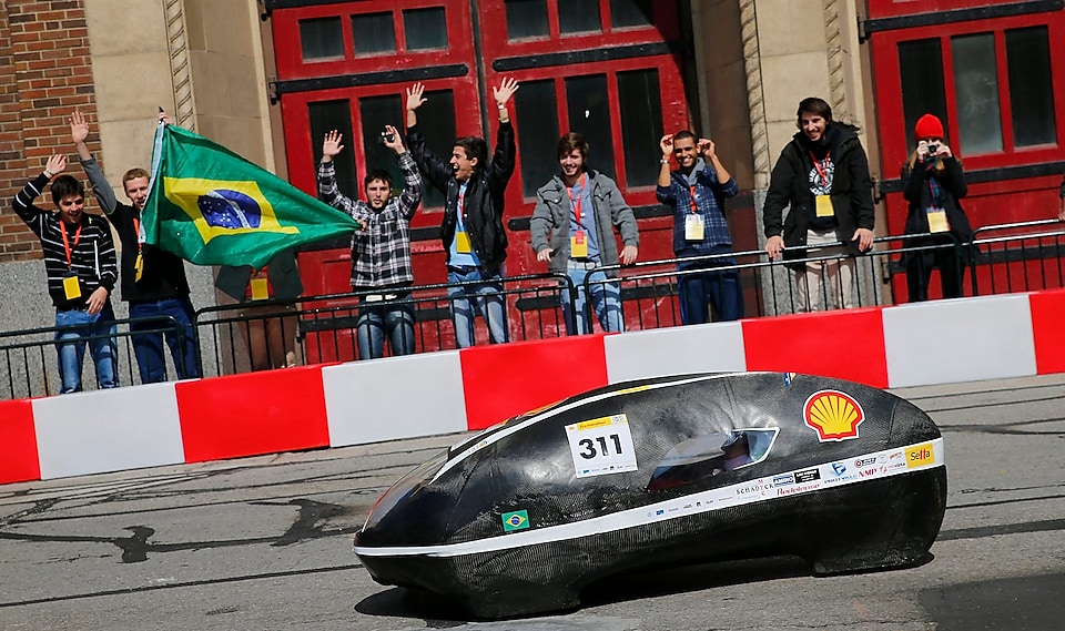Prototype from from the EFICEM team of Brazilian Santa Catarina Federal University at Eco-marathon Americas 2015